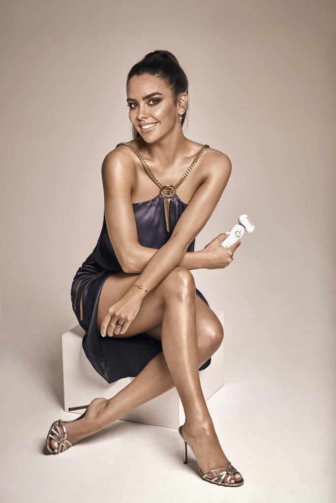 Cristina Pedroche en una imagen de la campaña Silk-épil 9 Flex, de Braun, de la que es embajadora